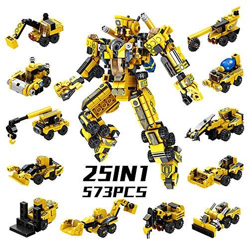 SYOSIN Roboter STEM Spielzeug 573 Stück Ingenieurwesen Bausteine Konstruktions Spielzeug Konstruktionsspielzeug Lernspielzeug für Kinder 6 7 8 9 Jahre Alte Jungen Mädchen