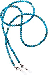 Eyeglasses Holder Gemstone Beaded Chain Retainer for Sunglasses Necklace Agate Amazonite Pearl Coral Ametiste Jasper RC