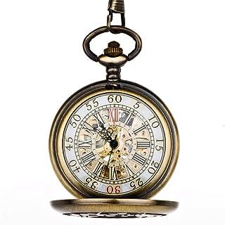 ZHJBD JIAN,Pocket Watch Wonderland Modèle Birdcage Mme Montre De Poche Mécanique Automatique Rétro Cuivre Étudiant Mignon ...