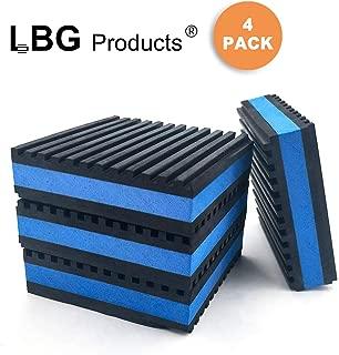 LBG Products Rubber Anti-Vibration Isolator Pads,Heavy Duty Blue EVA Pad for Air Conditioner,Compressors,HVAC,Treadmills etc (6'' X 6'' X 7/8'')