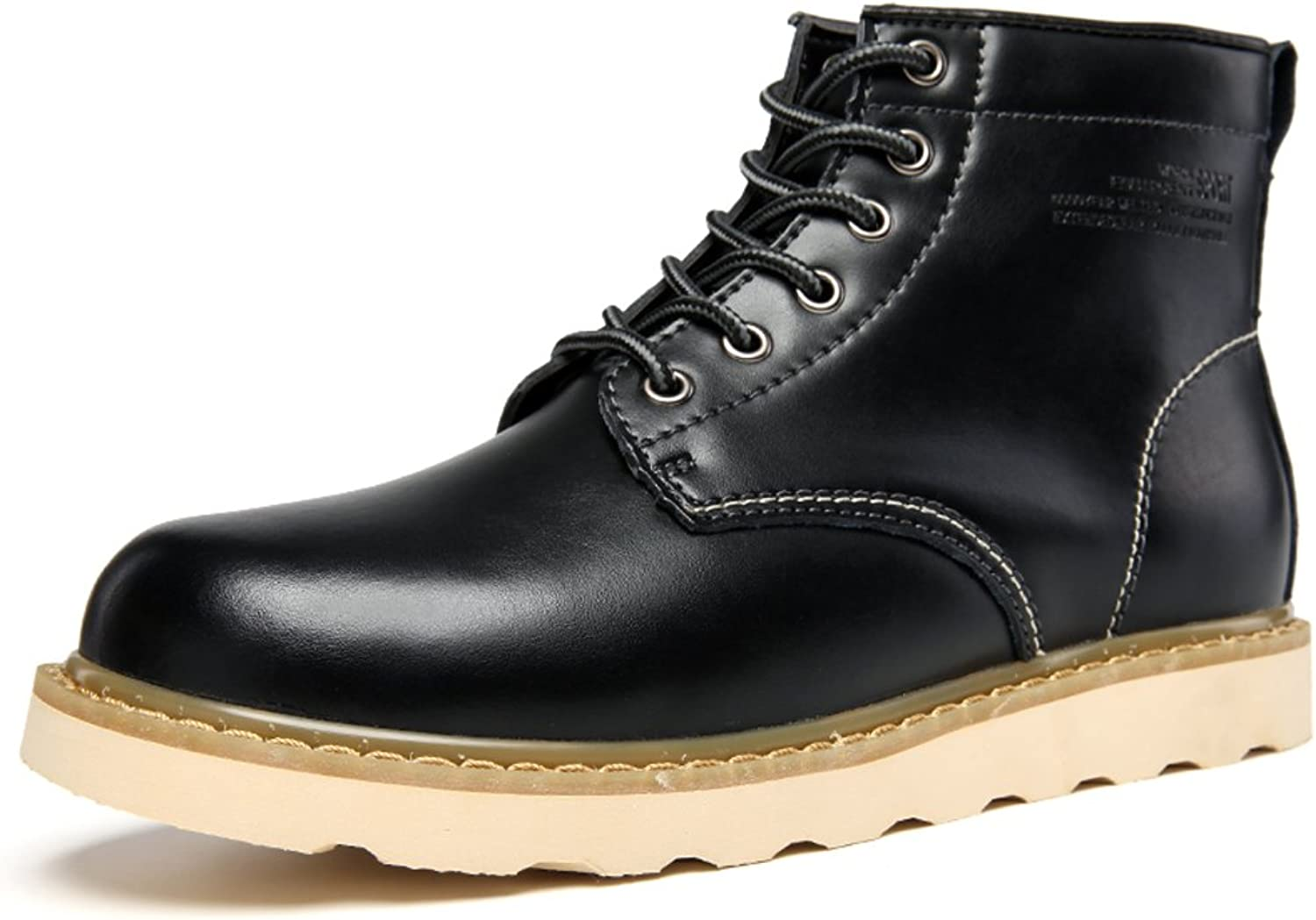 WLJSLLZYQ Men's Martin Boots high Heel shoes Retro in Thick-Soled Footwear Working shoes