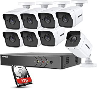 Annke 8CH CCTV videovigilancia PoE HD 4K H.265+ DVR con 5 MP cámaras de Exterior con Kit de vigilancia con EXIR LED IR Night Vision E-Mail Acceso Remoto 2 TB HDD