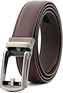 Chemstar Men's Dress Comfort Genuine Click Belt,Adjustable Leather Belt 27-46""
