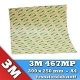 3M 467MP VHB - Lámina adhesiva de doble cara (1 hoja de DIN A4, 300 x 250 mm)