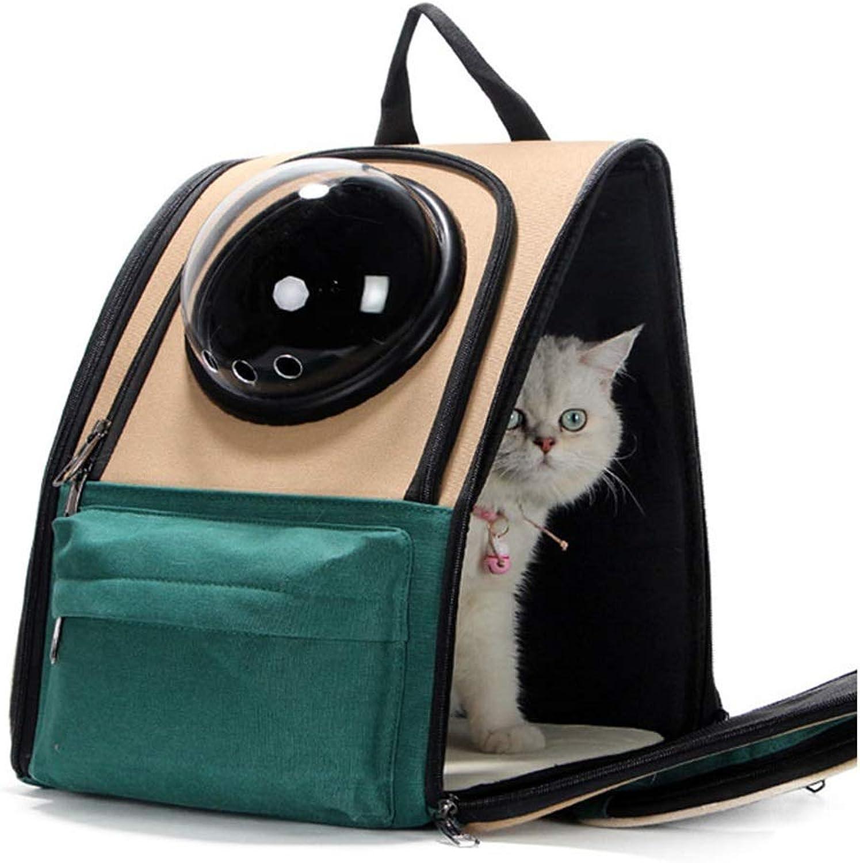 Cat Space Capsule, Cat Bag Breathable Waterproof Puppy Backpack Travel Hiking Rucksack 34X29X39CM