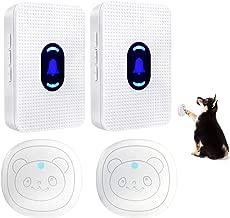 Daytech Dog Door Bell Wireless Doggie Doorbell Potty Communication Door Bell with Touch Button(2 ReceiverS & 2 Transmitters)
