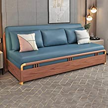 Convertible Sofa Couch Sleeper 3 Seater Sofa Bed Protable Lazy Couch with Pull Out Sleeper Compact Living Room Furniture,G
