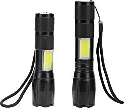WINDFIRE Super Bright Zoomable CREE XM-L T6 LED Flashlight with COB Side Lighting for Car Check Adjustable Focus Light Waterproof Outdoor 1800 Lumen Tactical Lantern 18650 Rechargeable Battery/AAA