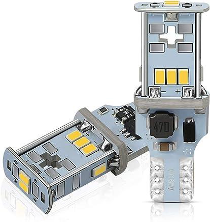 AUXITO T16 LED バックランプ 爆光 キャンセラー内蔵 バックランプ T16 / T15 3020LED10連 12V 無極性 ホワイト 後退灯 バックライト 30000時間以上寿命 1年保証(2個セット)