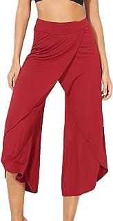 FITTOO Pantalones Profesionales De Yoga Sueltos Cintura Alta Mujer Pantalones Largos Deportivos Suaves y Cómodos