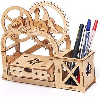 LZBBJ Madera Asamblea Craft Toy Kit - Puzzle 3D Modelos de Escritorio Caja de Almacenamiento de construcción - de Corte por láser Kit de construcción de Madera para Adolescentes y Adultos