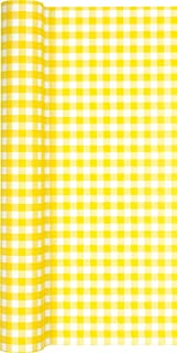 Rouleau de Chemin de Table Motif Carreaux Jaune/Blanc/Chemin de Table airlaid» pour fêtes et Anniversaires 40 cm x 4,90 m