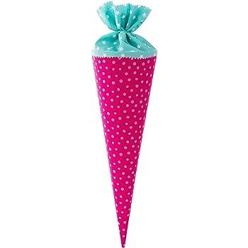 selbstgenäht 35 cm Zuckertüte aus Stoff Schultüte Geschwistertüte
