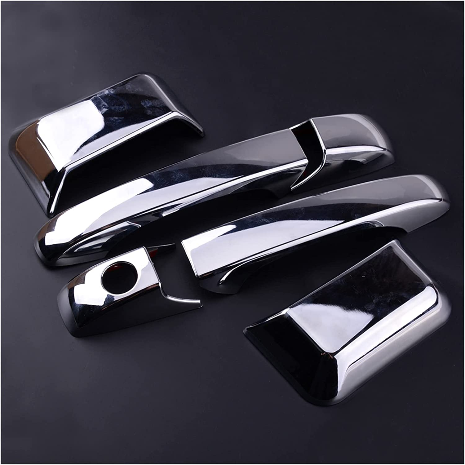 ZSQ 6pcs ABS Chrome Door Denver Mall Handle Fit f Bombing new work Cover Molding Overlay Trim