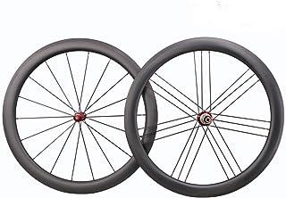 ホイールカーボン ロードレース 自転車 700C リム 50TL 25幅 ハプ R36 G3 ホイール カーボン ードバイク用 チューブレス (クリンチャー兼容)前後セット ホイールセット