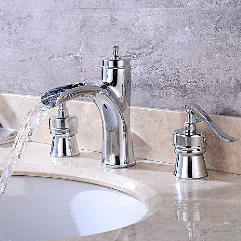 NewBorn Faucet Wasserhhne Warmes und Kaltes Wasser groe Qualitt Three Plating Leitungswasser abgesenkt Waschbecken Kaltes und heies Retro Leitungswasser