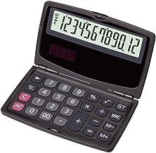 $48 » Calculator Desktop Portable Folding Calculator Student Office Financial Science 12-Digit Display Computer Dual Power Elect...