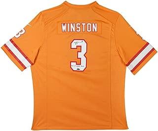 JAMEIS WINSTON Autographed & Inscribed Tampa Bay Bucs Orange Game Jersey UDA LE 13