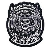 Aufnäher Aufbügler Letzte Ausfahrt Walhalla