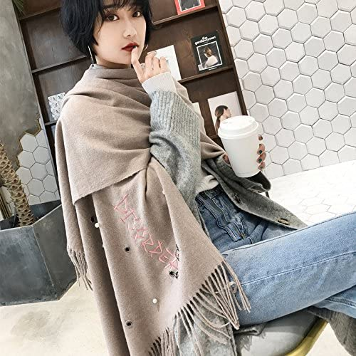 BXSBH-Winter EssentialsThe end of the scarf women autumn winter long thick warm solid color wild-su shawl dual-use screw bead student of history