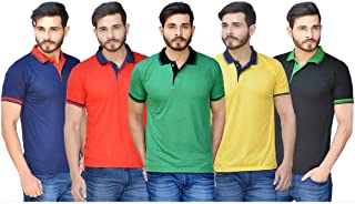 MASCOT Set of 5 Polo Neck T-Shirts for Men by Rv Creations