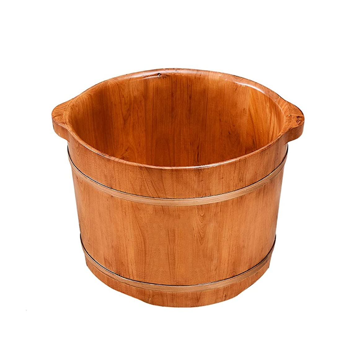 絵アセリボンWei Jun フットバスバレル、フットバスバレルフット浴槽小バブルフットバレル木製フット盆地指圧マッサージ浴槽ホームアーティファクト /-/ (Size : 27cm)