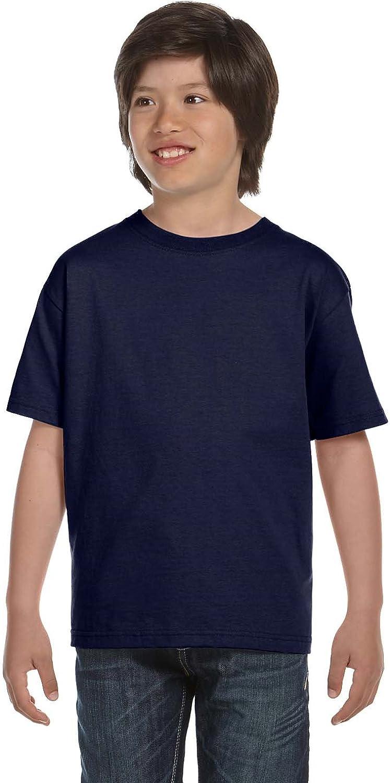 Hanes Kids' Beefy-T T-Shirt 6.1 oz, SMALL-Navy