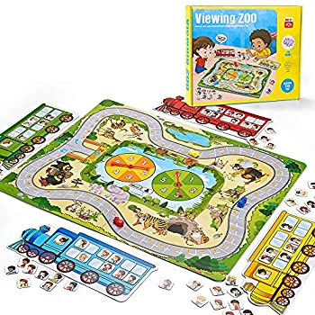 Kidpal Toddler Board Game for Kids Boy and Girl Age 3 4 Viewing Zoo A Fun Family Games You ll Want to Play Junior Educational Toys and Games to See Who Got The Most Passengers in The Zoo