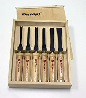 Flexcut Carving Tools, Mallet-Carving Chisels and Gouges for Woodworking, Starter Set of 6 (MC150)