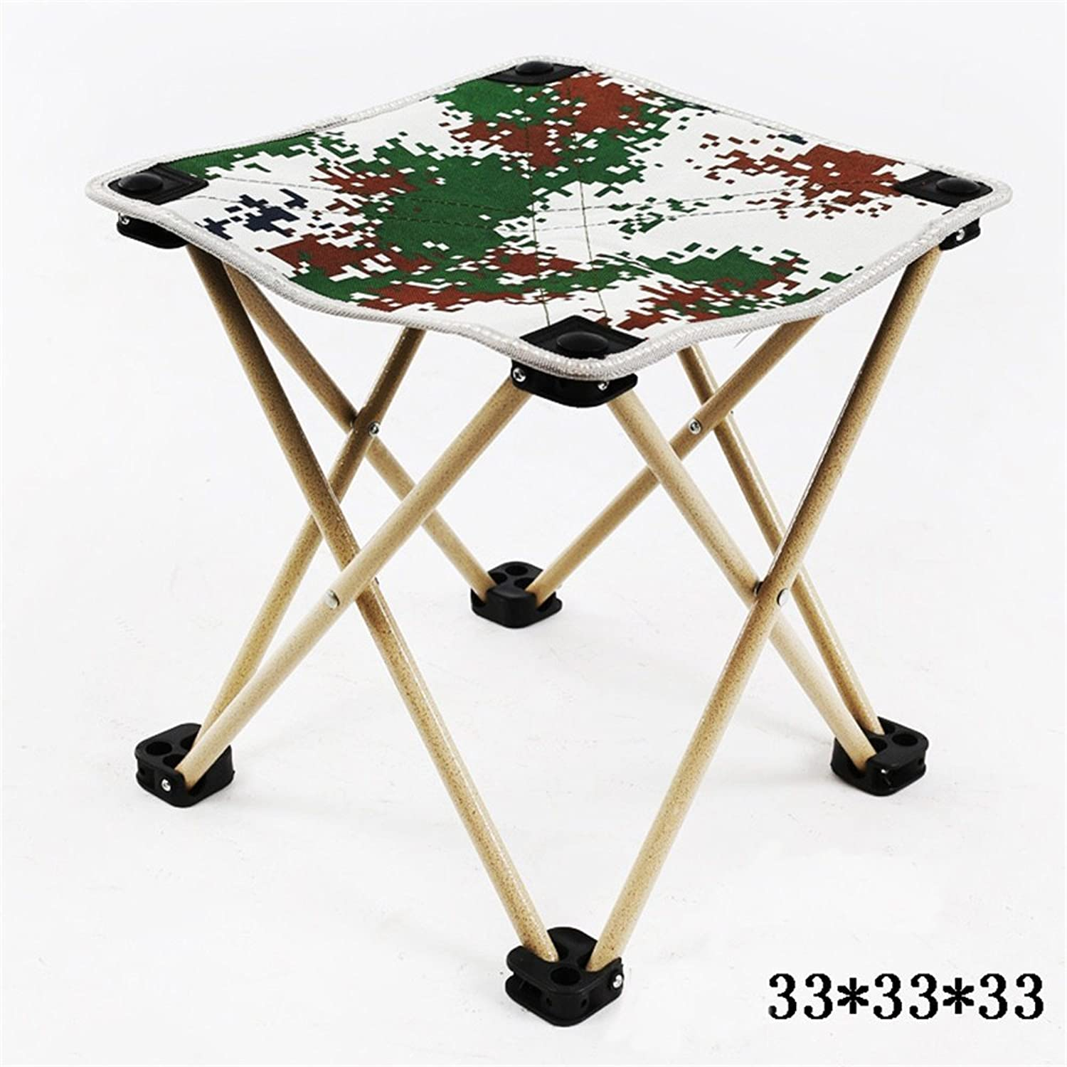 SMC Stool Simple Modern Stainless Steel Folding Stool Portable Camping Beach Fishing Stool Stool Painting Chair Mazar Folding Small Chair Stool shoes Stool (color   Camouflage)