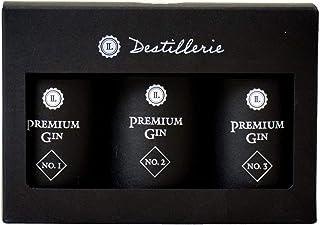 LAUX Premium Gin Geschenkset 45% Vol. 3x50ml Premium Gin No.1, No.2, No.3