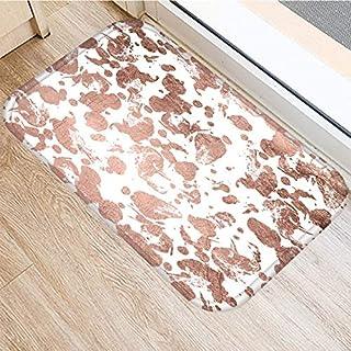 HLXX Stone Stripe Marble Pattern Anti-Slip Suede Carpet Door Mat Doormat Outdoor Kitchen Living Room Floor Mat Rug A12 60x...