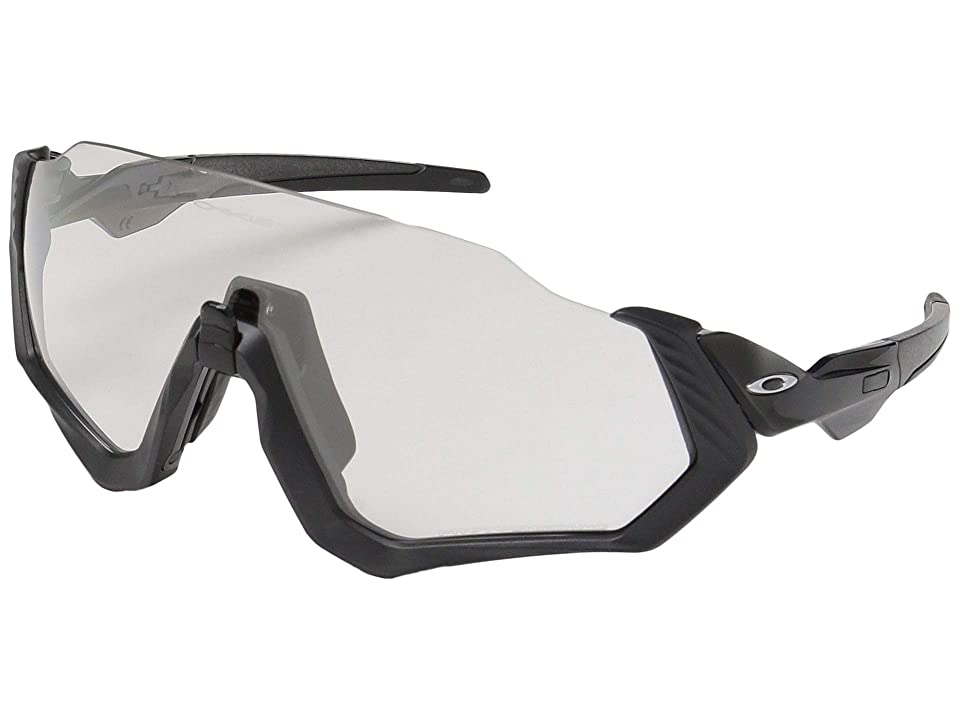 Oakley Flight Jacket (Scenic Grey/Matte Steel w/ Clear/Black Photochromic) Sport Sunglasses