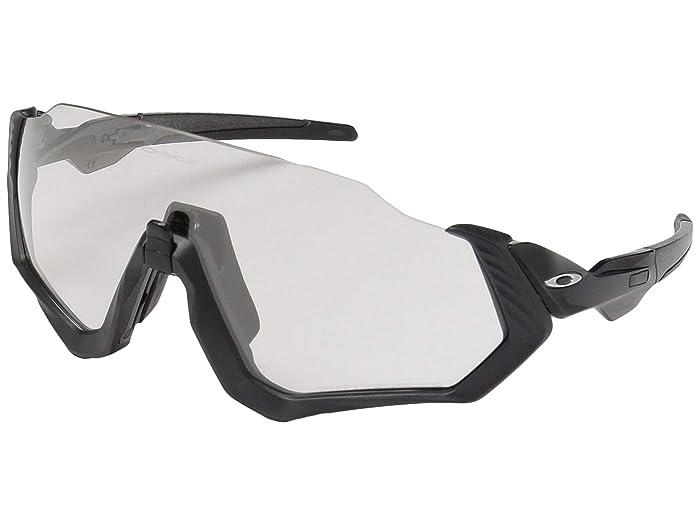 Oakley Flight Jacket (Scenic Grey/Matte Steel w/ Clear/Black Photochromic) Sport Sunglasses