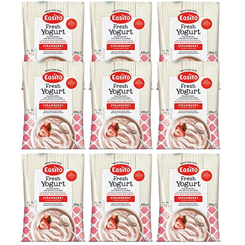 Easiyo Strawberry Joghurt Mix 9 x 240 g Beutel