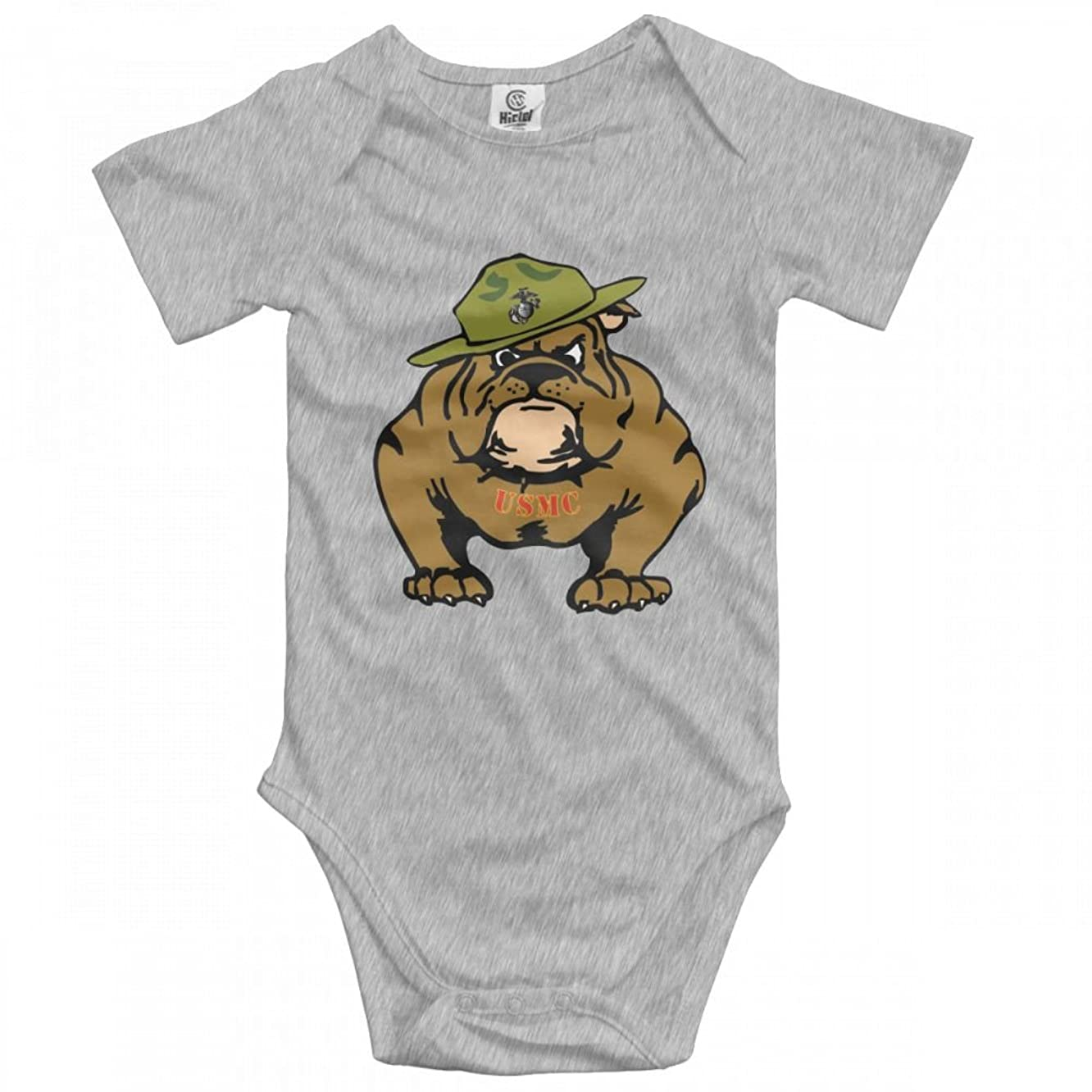 YERZ USMC Bulldogs in Army Navy Infant Baby Girl Boy Romper Jumpsuit Outfits Clothes Sleepwear