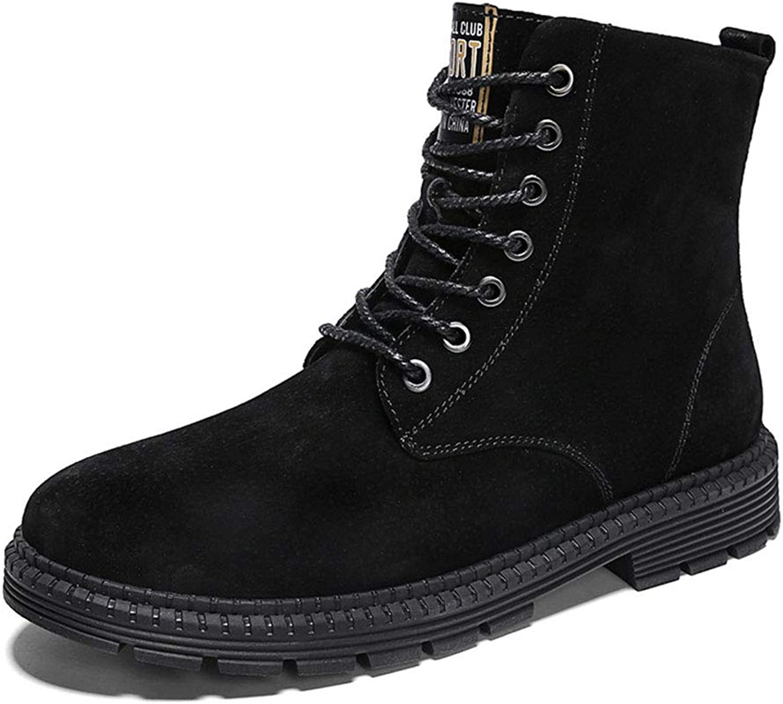 Mans Martin skor, Fall ljus 65533;65533; Winter Lace -up -up -up  High -top Casual skor  män s utomhus  resa Plus Cotton Martin stövlar (färg  svart, Storlek  42)  grossist-