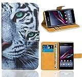FoneExpert® Sony Xperia E1 Handy Tasche, Wallet Hülle Flip Cover Hüllen Etui Ledertasche Lederhülle Premium Schutzhülle für Sony Xperia E1