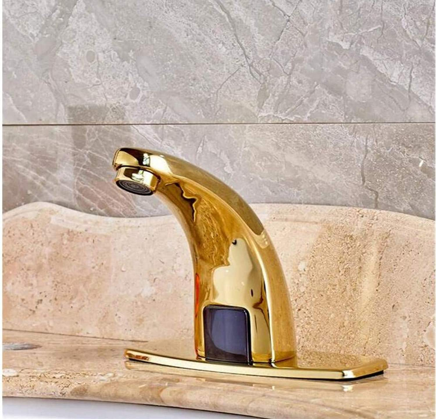 Chrome-Plated Adjustable Temperature-Sensitive Led Faucetfaucets 360 Degree Hot Cold Water Mixers Tap