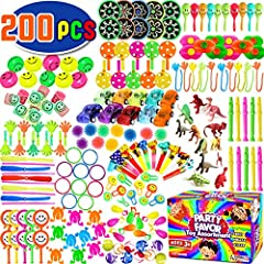 🎁 【 TONS OF VARIETY 】20 different toy assortment perfect for party favors, Birthday party giveaways, carnival prizes and goodie bag fillers toys. Great Party Favors for Kids! 🎁 【 BEST PINATA FILLER Have the best and unforgettable pinata the kids coul...