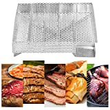 GOTOTOP Maze Pellet Smoker Tray 8 .1x 8.1x1.8 inch,Hot or Cold Smoking,Grilling and Smoking Recipes Generator BBQ Accessories Grill Cooking Tools Ideal for Smoking Cheese, Fish, Pork