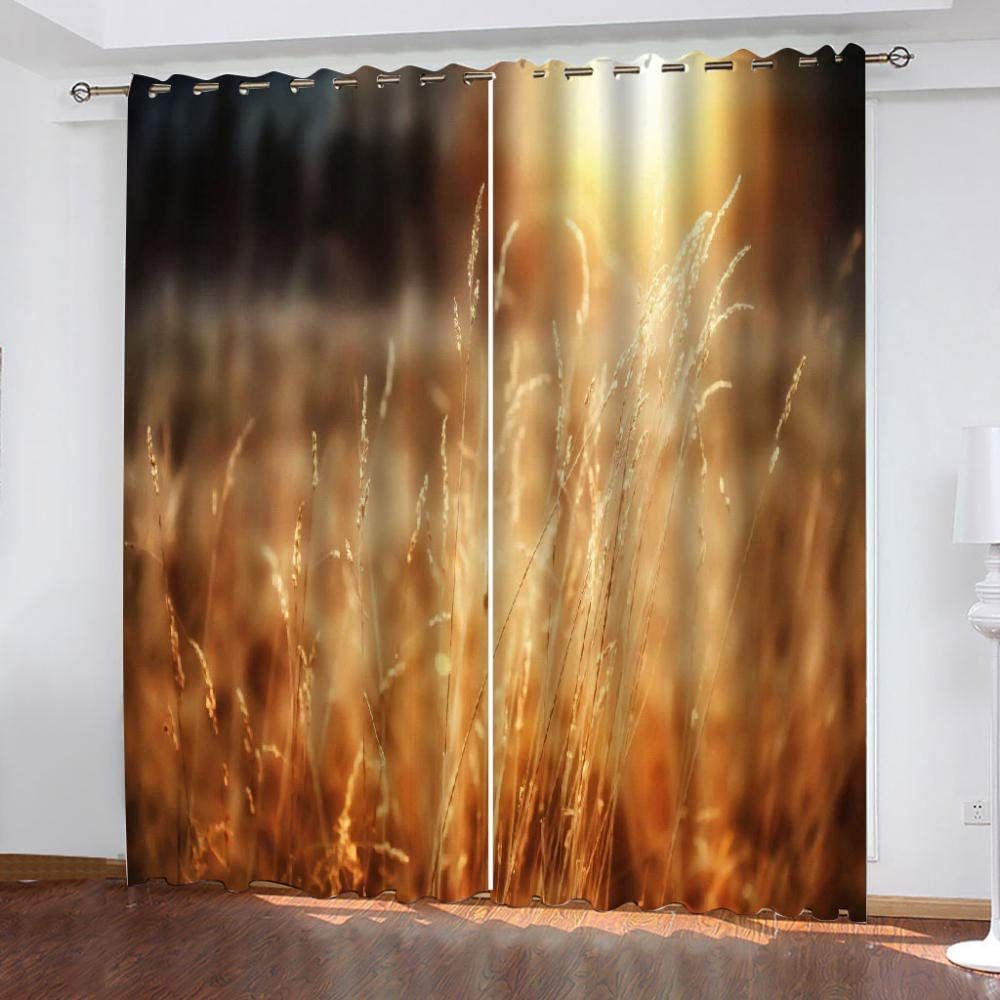 Blackout Window Curtain Panels Idyllic Scenery Insu Sales for sale Limited time trial price Thermal