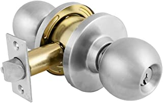 Master Lock BLC0232DKA4 Storeroom Cylindrical Ball Knob, Commercial Grade 2, Brushed Chrome Finish