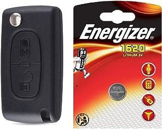 ENERGY01 VA2 CE0523 - Coque Clé Compatible Peugeot 107 207 307 308 407 2 Boutons CE0523 Lame sans RAYNURE Pile sur Circuit...