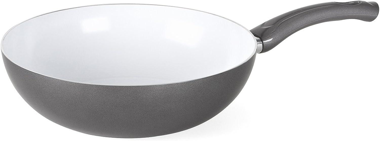 Bialetti 07224 Aeternum Easy Stir Fry Pan, 11-inch, Silver