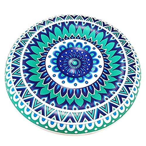 Colchón inflable en forma de agua, 106 cm, porcelana azul y blanca, colchón hinchable de aire para piscina, silla de verano, regalo