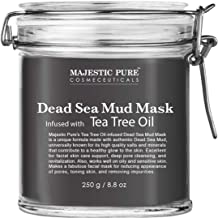 Best MAJESTIC PURE Dead Sea Mud Mask Infused With Tea Tree Oil - Supports Acne Prone and Oily Skin, for Women and Men - Fights Whitehead and Blackhead - Helps Reduce the Appearances of Scars - 8.8 oz Review