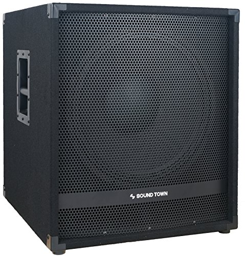 "Sound Town METIS Series 1800 Watts 15"" Powered Subwoofer with Class-D Amplifier, 4-inch Voice Coil (METIS-15SDPW)"