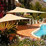 Toldos CJC Sun Shade Sail Triángulo Bloque UV para Yarda Patio Césped Jardín Cubierta Partido Protector Solar (Color : Sand, Size : 5X5X5M)