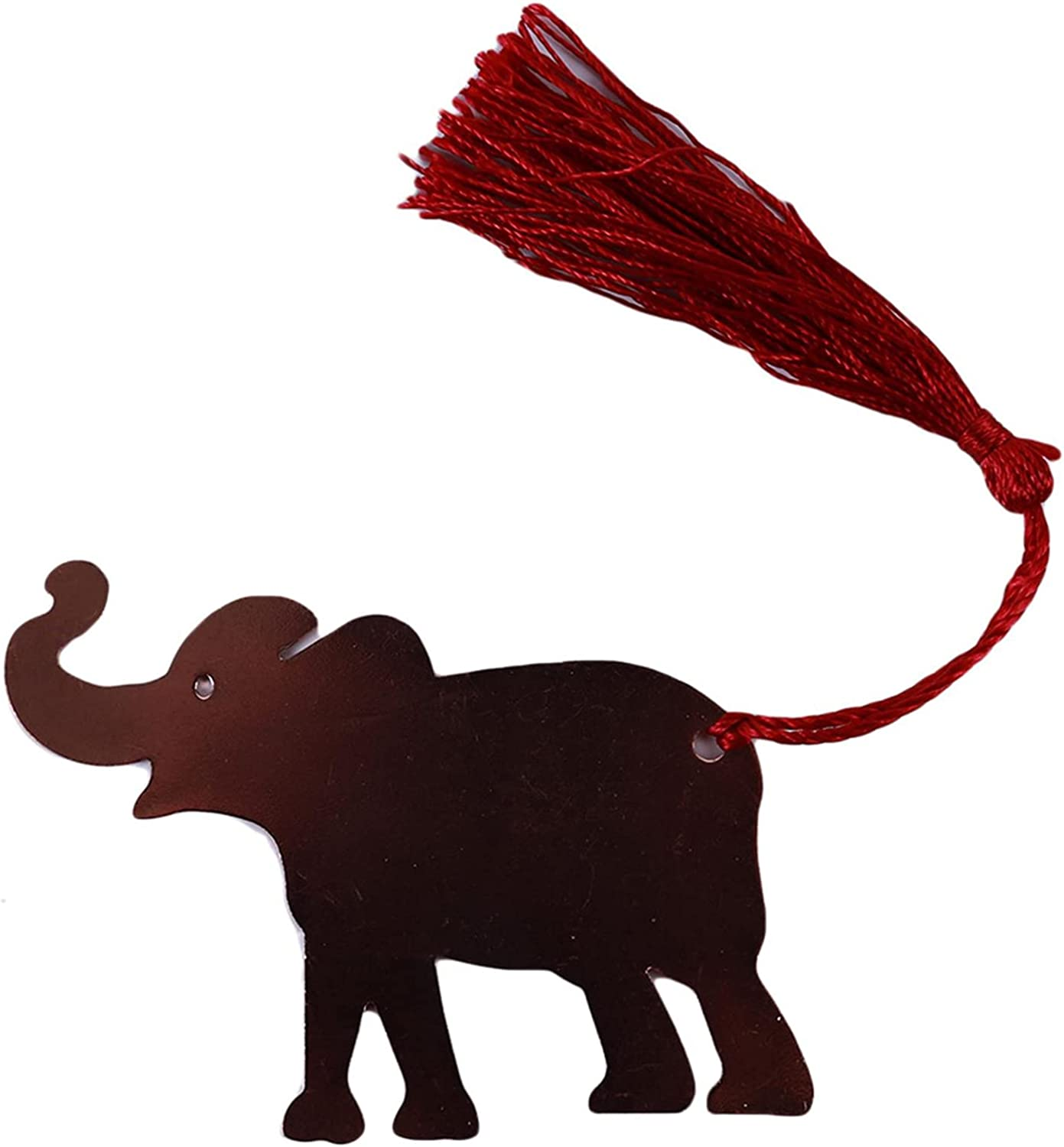 Timetries01 Portland Mall Bookmark Elephant Good Luck with Sale special price Metal Silk Tassels